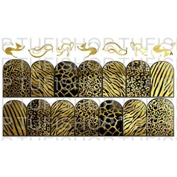 Слайдер дизайн №97 - золото-черный (двойной фольгированный)