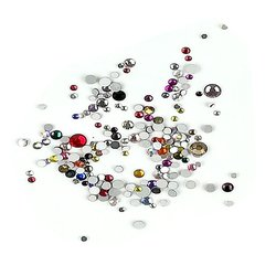 Стразы Starlet - разноцветные микс, в упаковке, 720 шт