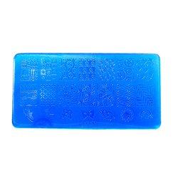 Пластина для стемпинга YRE XY-L32  пластик, синий