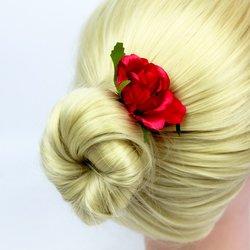 Цветок  большой роза - малиновый, 1 шт