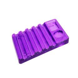 Подставка под кисточки YRE прозрачно - фиолетовая 5 ячеек (кисти + краска)