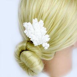 Украшения для волос с эластичным креплением - белый, 1 шт