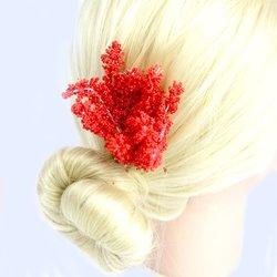 Украшения для волос с эластичным креплением - красный, 1 шт