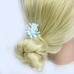 Цветок помпончик - голубой, 1 шт