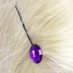 Невидимка с камнем - фиолетовый, 1 шт