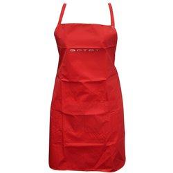 Фартук ESTET красный 2 кармана на кнопке 65х85 см