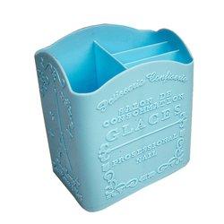 Подставка под кисточки YRE 4 секции голубая