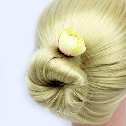 Шпилька для волос роза бутон маленький - айвори, 1 шт