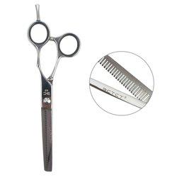 Филировочные ножницы для стрижки ESTET с черными кольцами 6.0 (ЭС)