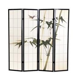 Ширма Viki - деревянный японский, 4 сегментный