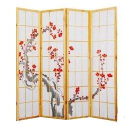 Ширма Viki - деревянный японский, 4 сегментный (сакура)