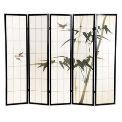 Ширма Viki - деревянный японский, 5 сегментный