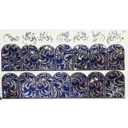 Слайдер дизайн № 51 - серебро-синий (двойной фольгированный)