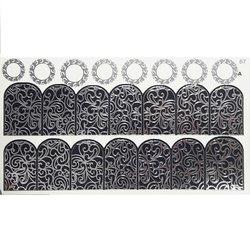 Слайдер дизайн №67 - серебро-черный (двойной фольгированный)