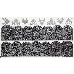 Слайдер дизайн №76 - серебро-черный (двойной фольгированный)