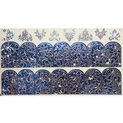 Слайдер дизайн №76 - серебро-синий (двойной фольгированный)