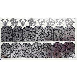 Слайдер дизайн №78 - серебро-черный (двойной фольгированный)