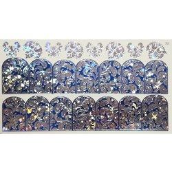 Слайдер дизайн №78 - серебро-синий (двойной фольгированный)