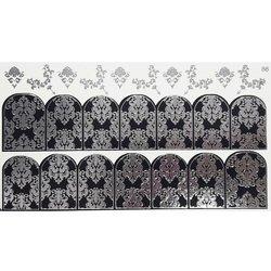 Слайдер дизайн №86 - серебро-черный (двойной фольгированный)