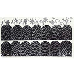 Слайдер дизайн №88 - серебро-черный (двойной фольгированный)