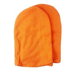 Варежки для парафинотератиии махровые хлопковые, оранжевый