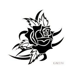 Трафарет для тату GM350 - роза