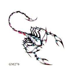 Трафарет для тату GM276 - скорпион
