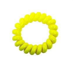 Резинка завиток маленькая глянцевая - желтая