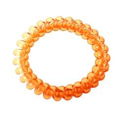 Резинка пружинка большая прозрачная - оранжевая