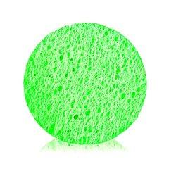 Губка для очищения кожи YRE круглая, салатовый