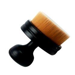 Кисть для макияжа Cailyn, универсальная округлая черная