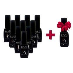 Набор гель-лаков Kodi 10+1 в подарок