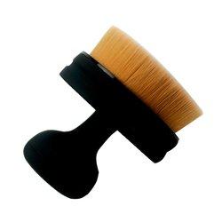 Кисть для макияжа Cailyn, универсальная округлая черная матовая