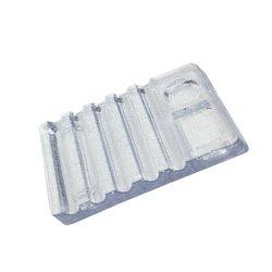 Подставка под кисточки YRE прозрачная 5 ячеек (кисти + краска)