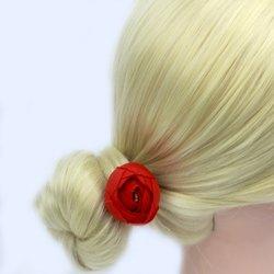 Шпилька для волос роза бутон маленький - красный, 1 шт