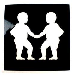 Трафарет для тату №156 Nila зодиак близнецы