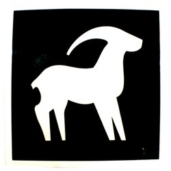 Трафарет для тату №163 Nila зодиак козерог