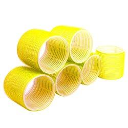 Бигуди липучки YRE 74 мм желтый 6 шт
