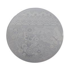 Пластина для стемпинга круглая YRE XY-G05  пластик, белый