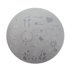 Пластина для стемпинга круглая YRE XY-G10  пластик, белый