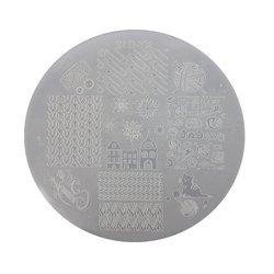 Пластина для стемпинга круглая YRE XY-G12  пластик, белый