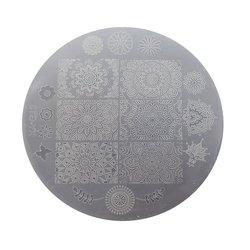 Пластина для стемпинга круглая YRE XY-G13  пластик, белый