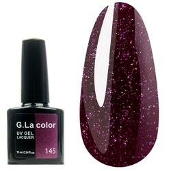 Гель-лак G.La color №145 - баклажанный с микроблеском, 10 мл
