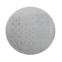 Пластина для стемпинга круглая YRE XY-G17  пластик, белый