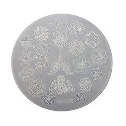 Пластина для стемпинга круглая YRE XY-G19  пластик, белый