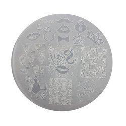 Пластина для стемпинга круглая YRE XY-G29  пластик, белый