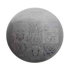 Пластина для стемпинга круглая YRE XY-G32  пластик, белый