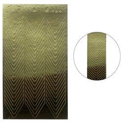 Металлизированные наклейки для ногтей TUFI Profi GD-002