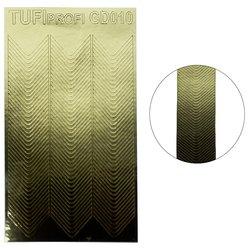Металлизированные наклейки для ногтей TUFI Profi GD-010
