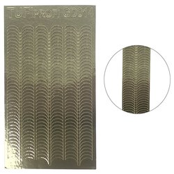 Металлизированные наклейки для ногтей TUFI Profi GD-014